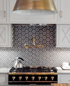 South Shore Decorating Blog: What I Love Wednesday: CONE LIGHTING! Backsplash and brass