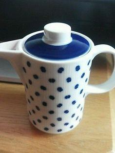 Kaffeekanne-Melitta-blau-weiss-unbenutzt-wie-neu