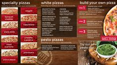 Pizza Digital Menu Board from Menuat.