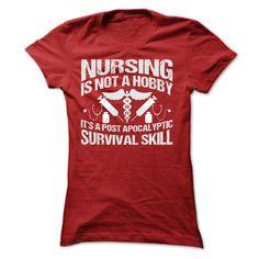 NURSING IS NOT A HOBBY T-Shirts, Hoodies. ADD TO CART ==► https://www.sunfrog.com/Jobs/NURSING-IS-NOT-A-HOBBY-SHIRT-Ladies.html?id=41382