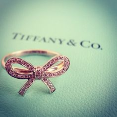 Tiffany & Co. Bow ring, love...So cute for a pinky...kind of like a pinky promise.