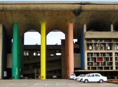 High Court building,by Le Corbusier, Chandigarh, India