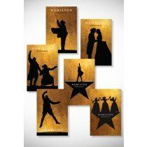 HAMILTON THE MUSICAL Set of 6 merchandise postcards from HAMILTON The Musical