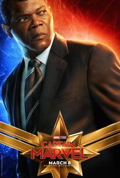 Samuel L. Jackson as Nick Fury - Captain Marvel, 2019 Poster Marvel, Marvel Comics, Films Marvel, Marvel Movie Posters, Poster S, Marvel Fan, Marvel Characters, Marvel Heroes, Marvel Avengers