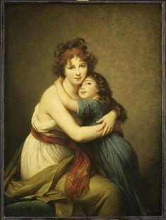 Louise-Elisabeth Vigée Le Brun | Madame Vigée-Le Brun et sa fille, Jeanne-Lucie, dite Julie (1780-1819) | Images d'Art