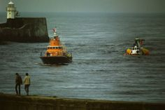 Lifeboat towing downed helicopter Aberdeen