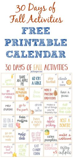 Grab this free printable calendar of fun fall activities for kids and families to make the most of the autumn season!