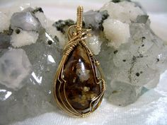 Tiger Eye Bronzite Pendant 14K Goldfilled Wire by jpatterson312, $50.00