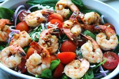 I Thee Cook: Sautéed Shrimp and Baby Spinach Salad #Relished Foods