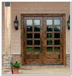 furniture-old-solid-wood-exterior-door-with-black-metal-handle-and ...