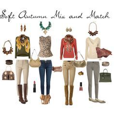 Soft Autumn Mix and Match by livinglifeincolour on Polyvore