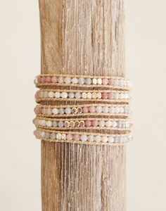 The Little Market Stone + Crystal Wrap Bracelet