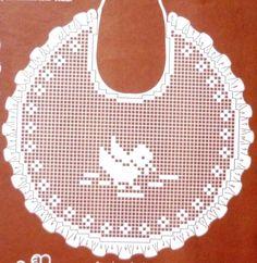 Crochet Baby Bibs, Crochet Baby Clothes, Love Crochet, Crochet For Kids, Crochet Flowers, Baby Knitting, Knit Crochet, Baby Bibs Patterns, Crochet Blanket Patterns