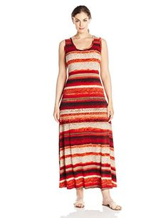 Red calvin klein maxi dress