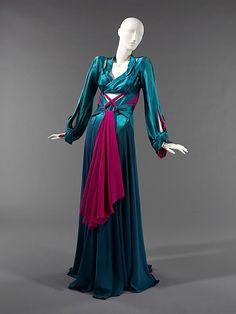 Silk Dinner Dress, Charles James, American, 1941