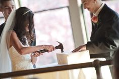 Write love letters to each other on the eve of the wedding day, place them in a box with wine and nail it shut during the ceremony. Open on your 10th anniversary unless you hit a rough patch--in which case you open it up, pour the wine, read the love letters & remember the meaning of your relationship