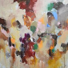 """""""Over There in Tuscany,"""" original abstract painting by artist Matteo Cassina (Italy) available at Saatchi Art #SaatchiArt"""