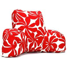 Majestic Home Goods Plantation Indoor Outdoor Reading Pillow, Red ($117) ❤ liked on Polyvore featuring home, outdoors, outdoor decor and red