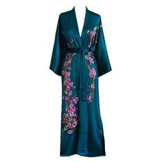 Cherry Blossom Silk Handpainted Kimono Robe