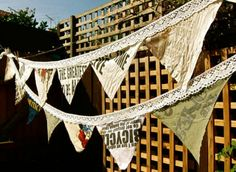 T-shirt banner~ bunting - DIY - would be cute in a kid's room