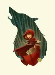 Cow Shell Graphics · Storybook little Red ridding hoods spirit animal - the big wolf Little Red Ridding Hood, Red Riding Hood, Illustration Inspiration, Illustration Art, Charles Perrault, Photo D Art, Red Hood, Illustrations, Comic Art