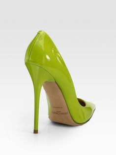 Jimmy Choo Anouk Patent Leather Pumps in Green | Lyst