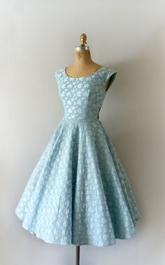 1950's Embroidered Cotton Dress