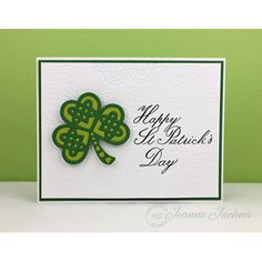Happy St Patricks' Day and Shamrock Die at Serendipity Stamps