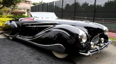 This 1947 Delahaye 135M Narval is one of the most famous creations of Figoni et Falaschi....