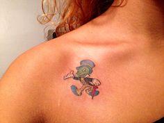 Jiminy cricket tattoo!!