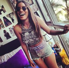 Get The Look: Keke Palmer's Summer Crop & Shorts