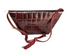 Vintage Clutch, Gianni Versace, Tote Purse, Burgundy, Purses, Trending Outfits, Unique Jewelry, Handmade Gifts, Totes