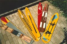 This is the complete collection of SNURFERS that were produced from 1966 thru 1989. Over a million of these babies were sold and turned the country onto a new way of sliding downhill. Snowboarding today would not exist without the SNURFER
