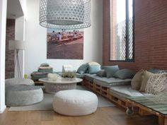 Como hacer sofás con palés | Decorar tu casa es facilisimo.com