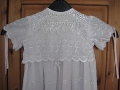 Lily's christening gown, bodice detail