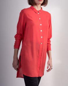 Chemise Longue Rouge - Casablanca