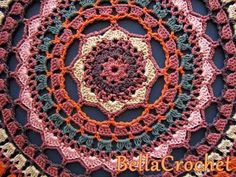 Autumn Spice Mandala Doily     By Elizabeth Ann White   For BellaCrochet     NOTE: This design incorporates Eyelet Foundation spaces in R...