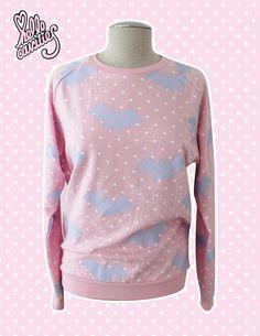 Hello Cavities Twinkle Twinkle Bat Sweatshirt in PINK on Etsy, $57.00