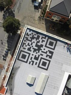 Giant QR Code on Roof of New Facebook Headquarters