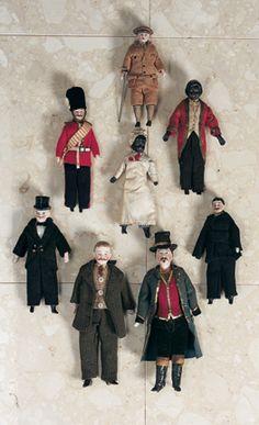 Promises of Paris: 58 Collection of German Bisque Dollhouse Men Victorian Dolls, Victorian Dollhouse, Vintage Dolls, Modern Dollhouse, Dollhouse Toys, Dollhouse Miniatures, Dollhouse Clothing, Antique Toys, Antique Quilts