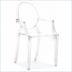 Zuo Anime Acrylic Chair in Transparent - 106104