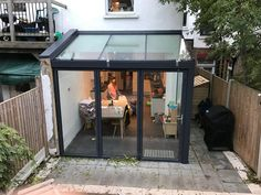 Other projects Other Glass ProjectsWhy choose our glass projects? Thinking about how to improve your property? Wishing so something unusual or creative? Glass Roof Extension, House Extension Design, Extension Designs, House Design, Lean To Conservatory, Conservatory Extension, Conservatory Kitchen, Conservatory Interiors, Garden Room Extensions