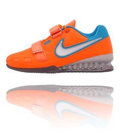 2b5384e3f3fe66 Nike Romaleos 2 Weightlifting Shoes - Orange   Blue