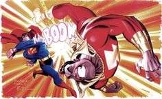 Superman vs Captain Marvel by Bruce Timm