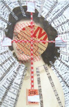 Shirley Ende-Saxe, collage art: Target Sun.