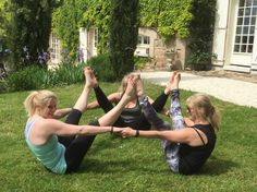 a little bit of acroyoga outside the chateau! www.goyogaretreats.co.uk