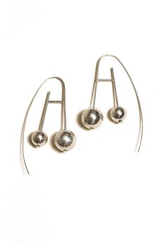 Aesa Jewelry - Silver Mother Moon Earrings  24f71fbacdaa0