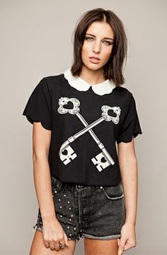 Order Drop Dead - The Lock Up - Girly by Drop Dead for € at Impericon - The biggest assortment in Europe. Drop Dead Clothing, Runway Fashion, Girl Fashion, Beautiful Outfits, Beautiful Clothes, Summer Girls, Clothing Items, Girly Girl, T Shirts For Women