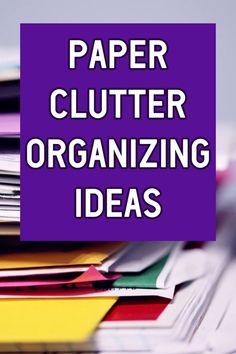Home Organization Ideas For Paper Clutter Desk Organization Tips, Organizing Paperwork, Organizing Ideas, Clutter Solutions, Paper Clutter, Staying Organized, Dollar Stores, Challenge, Decluttering