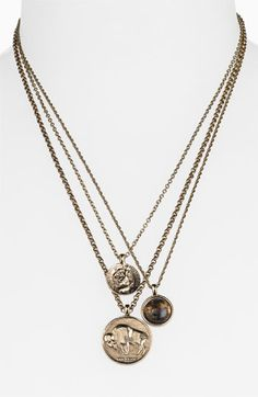 Low Luv by Erin Wasson Triple Charm Necklace | Nordstrom